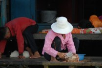Family life in a floating village, Prek Toal, Cambodia
