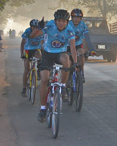 Burning the competition, Angkor Wat Bike Race