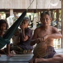 Members of the Laotian community living beside the Conservation Area in Ratanakiri