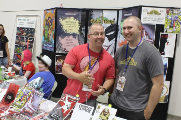 Joe Mulvey and Tyler JAmes of Comix Tribe