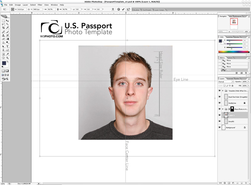 passport photo template psd | goseqh.tk