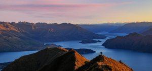 Lovely morning on Roys peak in Wanaka New Zealand