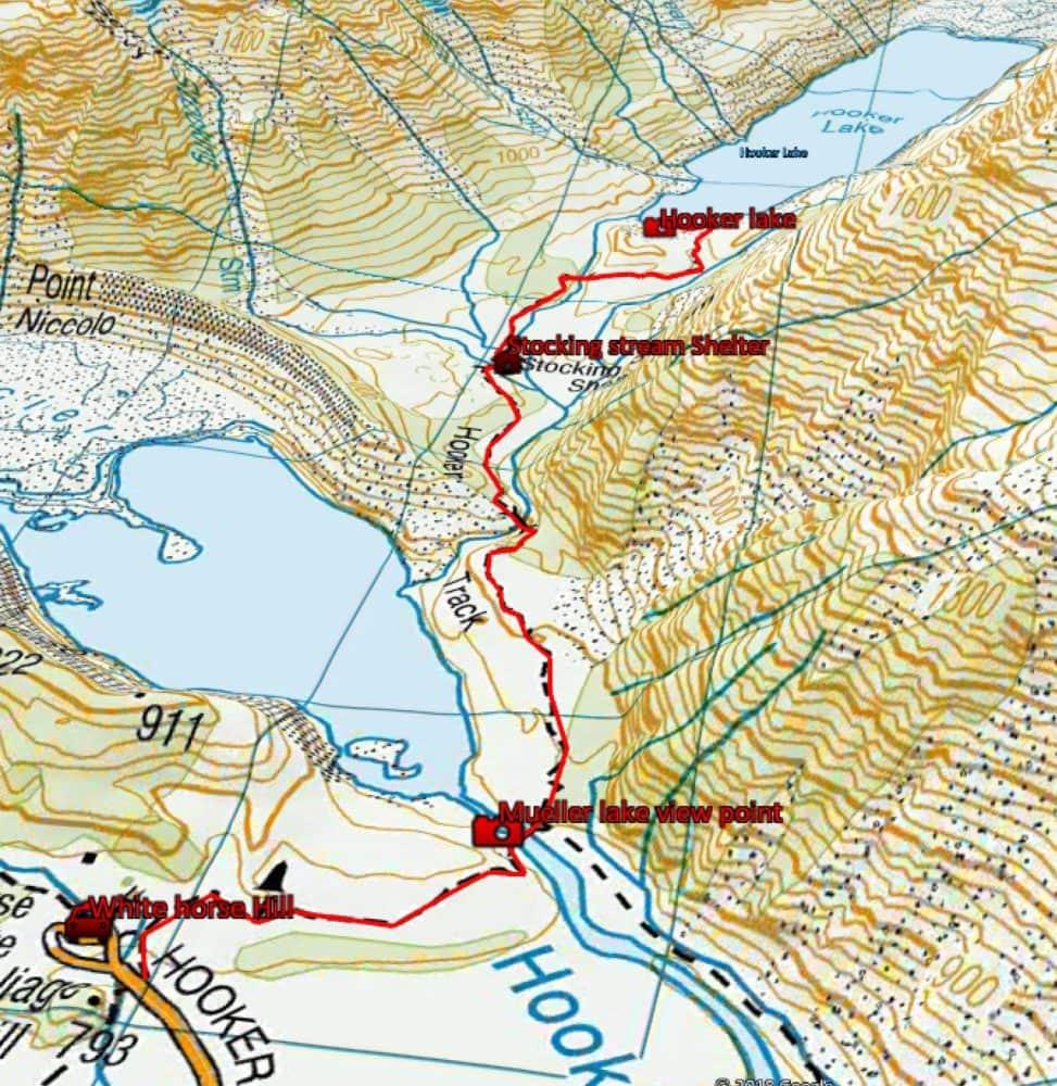 Hooker lake track topo 3D
