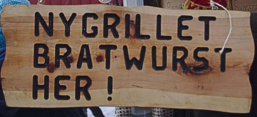 røros martnan schild Bratwurst