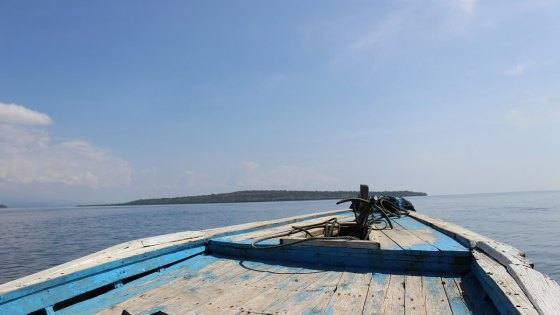 Sailing on a boat in Bali, part of your diving safari