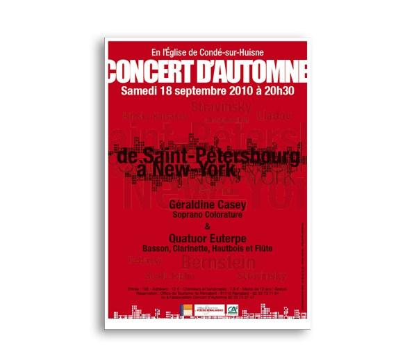 Affiche de Concert de musique classique, Asso Concert d'Automne