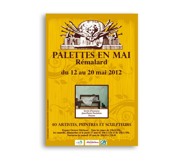"""Affiche Salon d'exposition de """"Palette en Mai"""""""