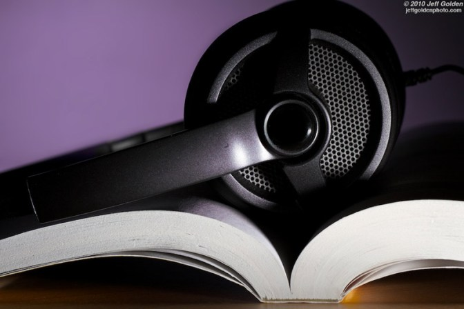 Image: Headphones on Book