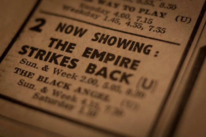 Image: Now Showing The Empire Strikes Back