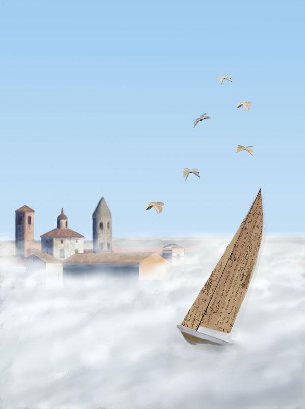 illustration calibro festival città di castello sale boat paper literature book bird wing