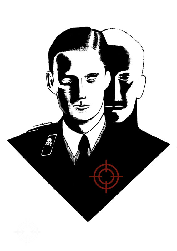illustration stephane allix dreams Alexander Hermann second world war life after death in black and white