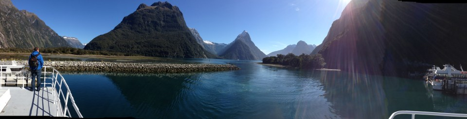 Matt at Milford Sound