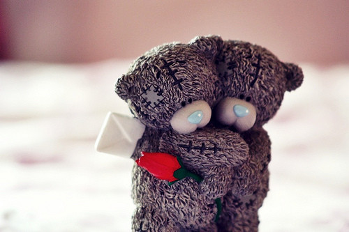 hug love girly bears