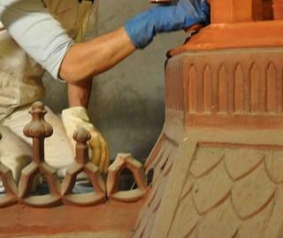 Esempio delle fasi di presa tradizionale con gomme siliconiche per riprendere a 360° il modello in 3D