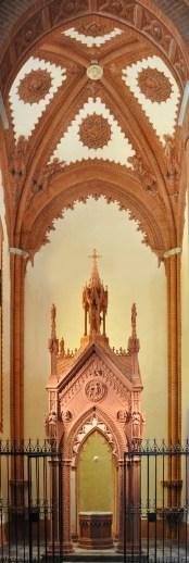 Cappella del Battistero: vista d'insieme ad intervento di restauro concluso