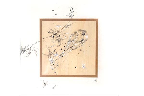 Pigeon Skull and Jasmine II