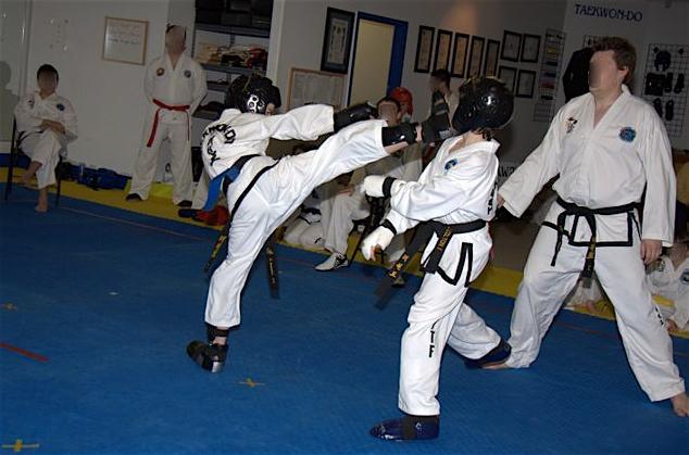 ninja boy in action