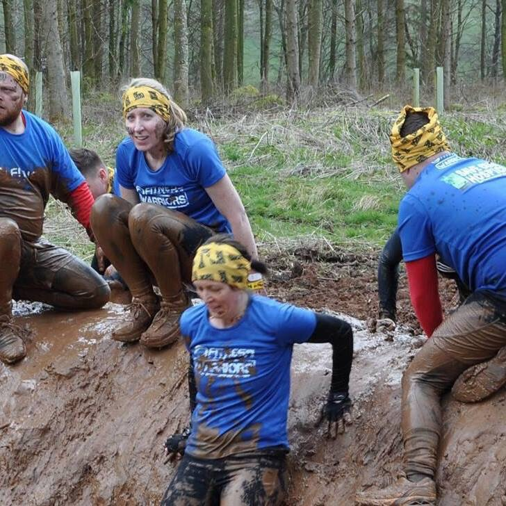 It's a slightly cold and muddy affair. Here I am in last year's Born Survivor (looking at camera)