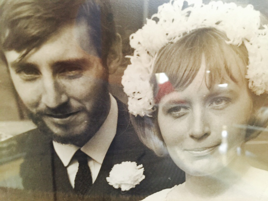 My mum and dad in their wedding day