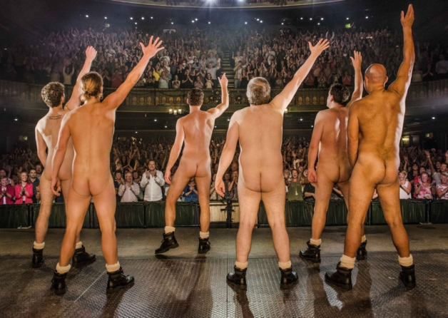 The cast of the Full Monty bare all