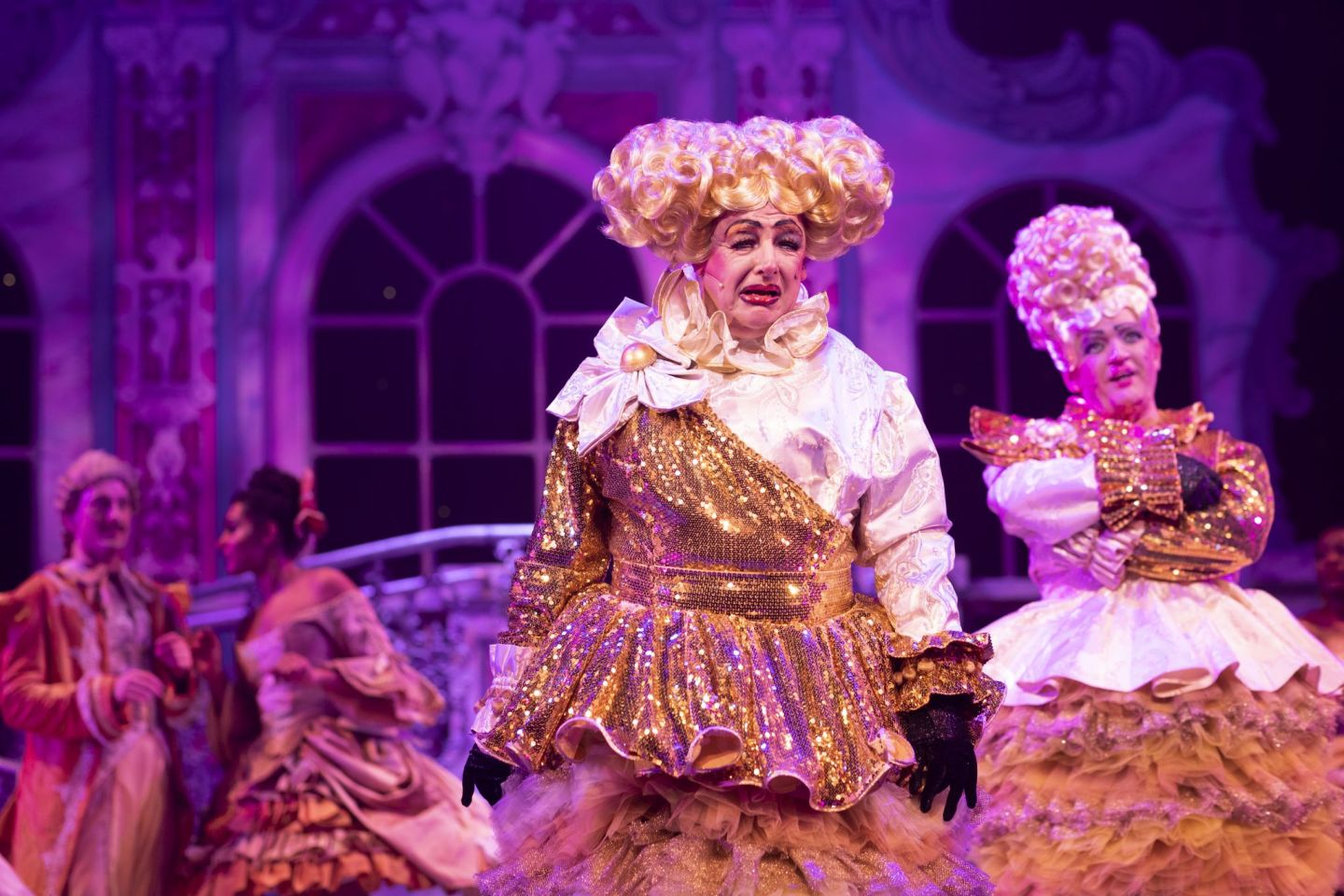 Connor McIntyre and Les Dennis as the Ugly Sister in Cinderella