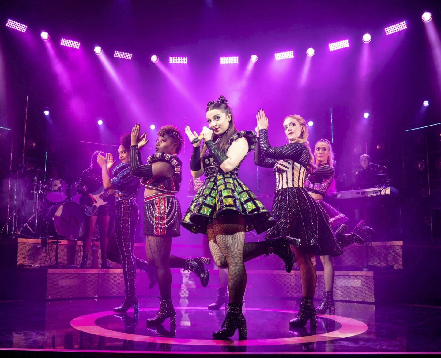 The cast of SIX the musical at The Lowry in Salford