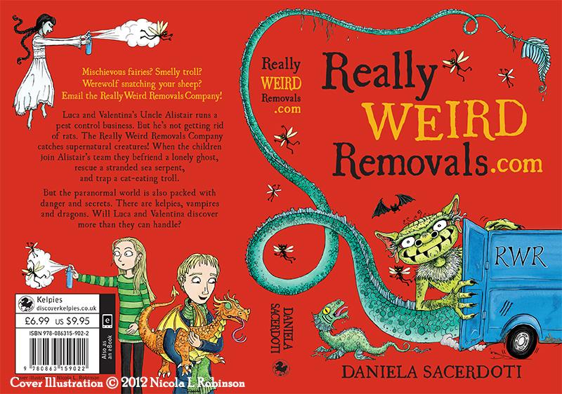 Really Weird Removals.com Cover illustration © Nicola L Robinson