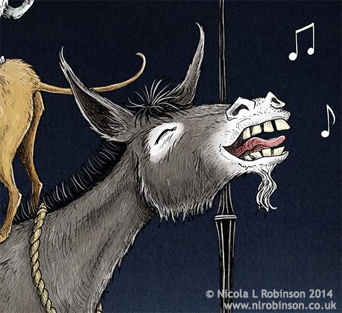 The musicians of Bremen illustration © Nicola L Robinson. All rights reserved www.nlrobinson.co.uk