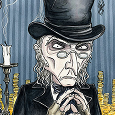Scrooge A Chistmas Carol Dickens Illustrations © Nicola L Robinson