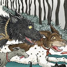 Winter Dogs Illustration © Nicola L Robinson
