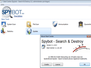 Aggiornamento spybot scaricare
