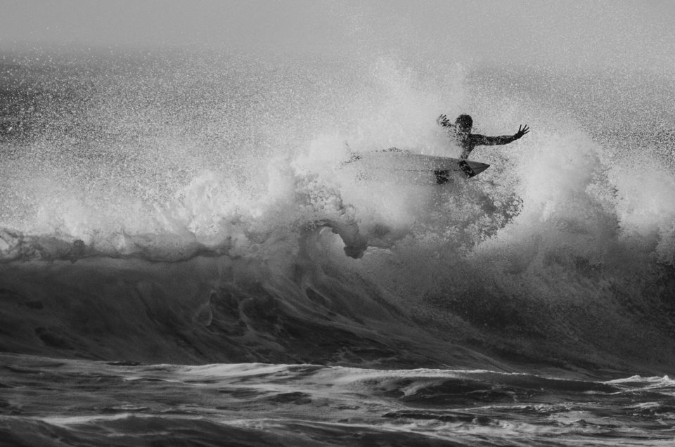 Black and White Surf Action