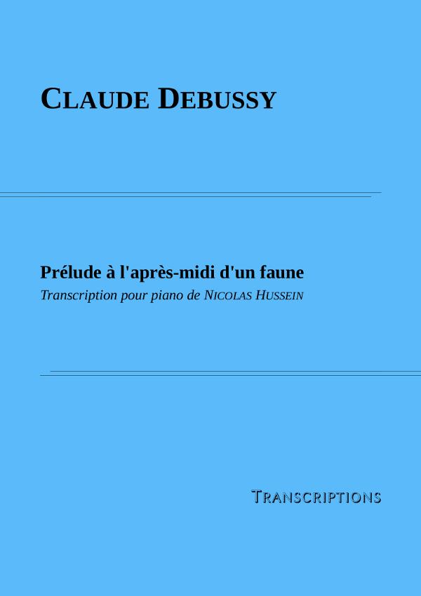 Couverture partition Prélude à l'après-midi d'un faune de Debussy