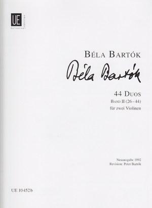 Bartok 44 duos vol 2