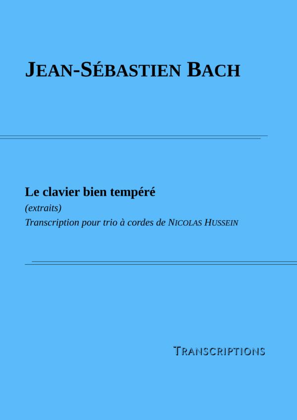 Couverture partition Bach Le clavier bien tempéré