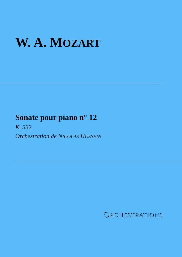 Couverture Mozart sonate 12