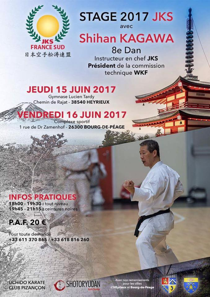Kagawa Masao en France les 15 et 16 juin 2017