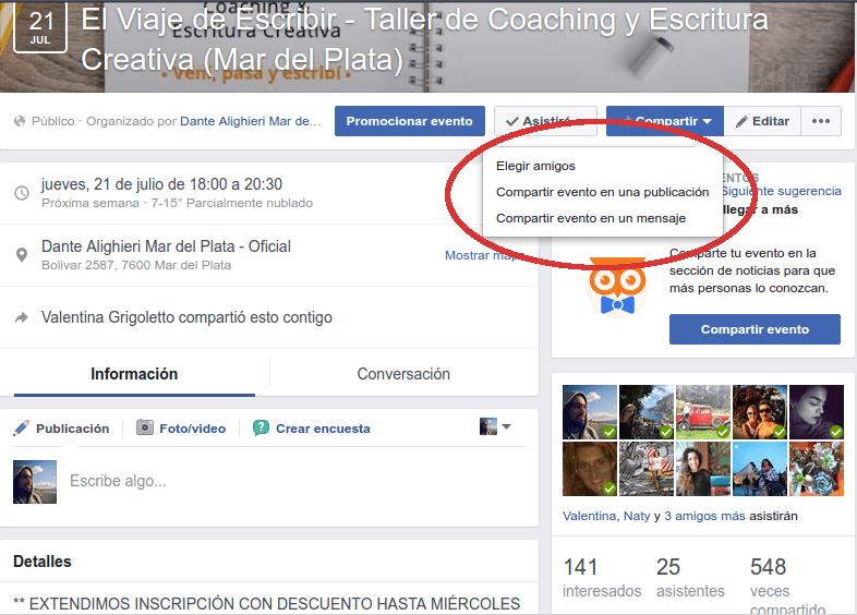 eventos en facebook