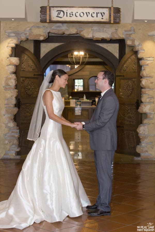 wedding photography at the camarillo public library
