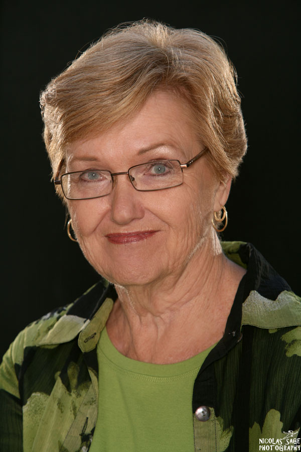 business headshot in Los Angeles of older woman