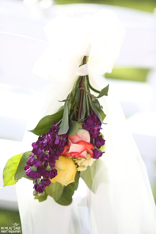 wedding details photography of flower bouquet