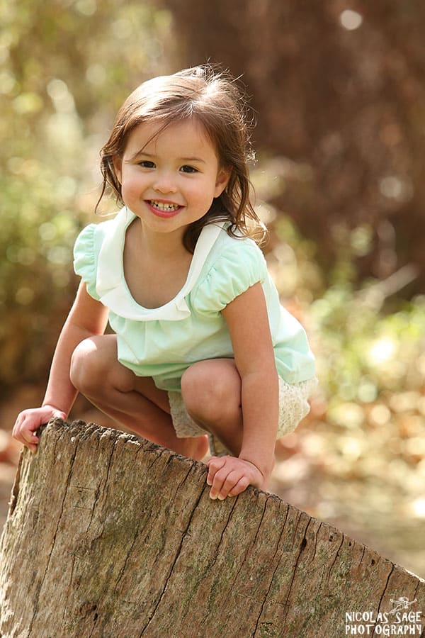 beautiful child portraits in Los Angeles park
