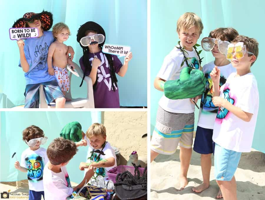los angeles photo booth kids at beach