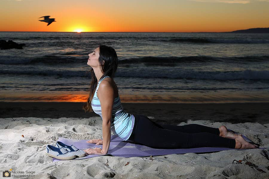 yoga photography venice beach sunset