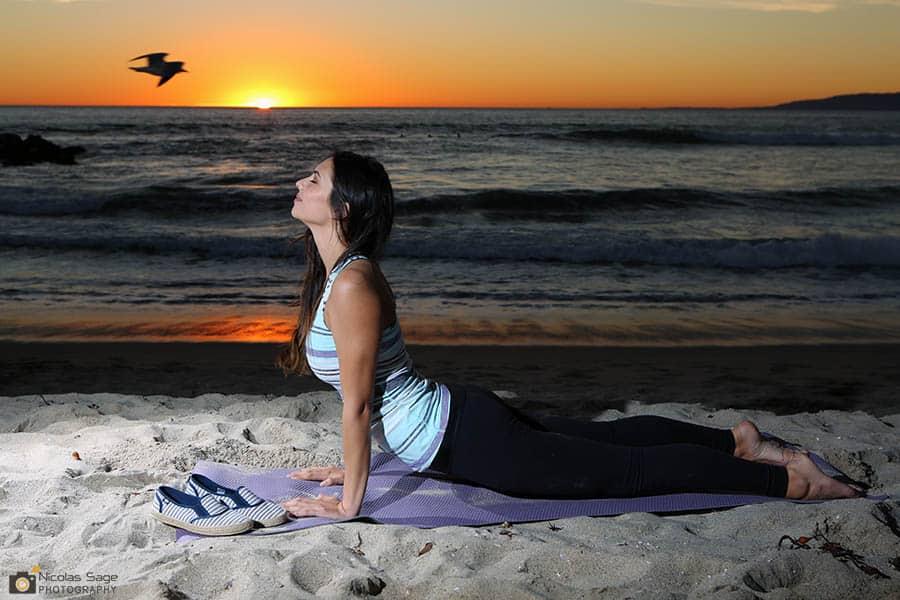 yoga photography venice beach sunset