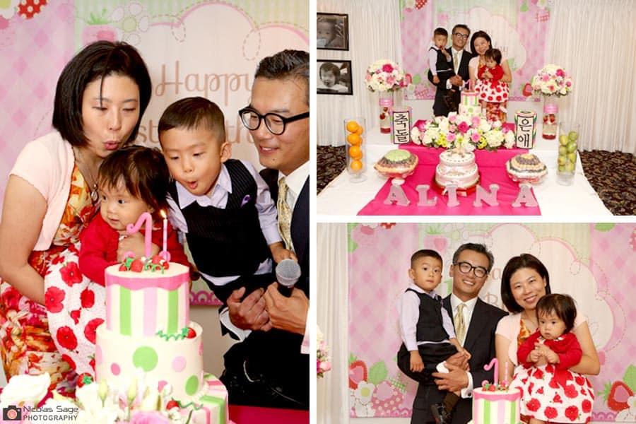 korean birthday party photographer los angeles