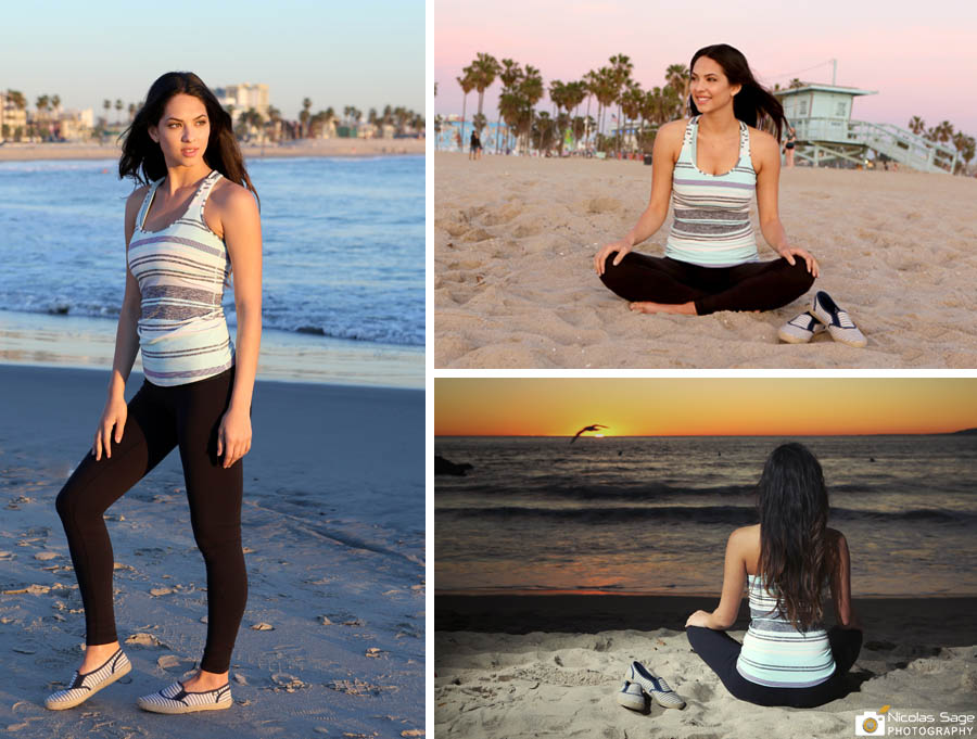 Christen Harper model at Venice Beach