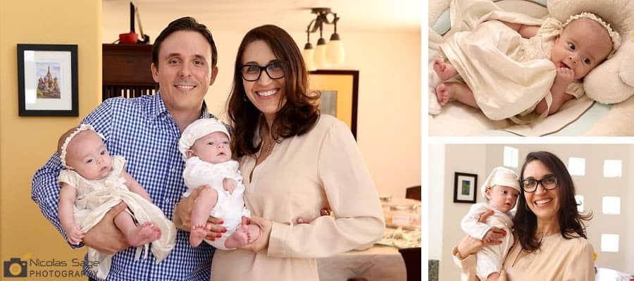 Twin babies family portrait session