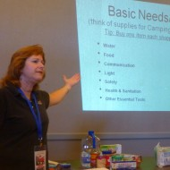 Sheri Burns, Executive Director of CRIL, leads preparedness workshop