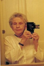 Oma selfie in mirror March 1990 (Custom)